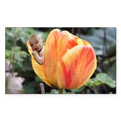 Tulip Flower Baby Rectangle Decal