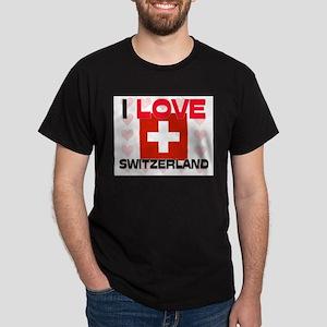 I Love Switzerland Dark T-Shirt