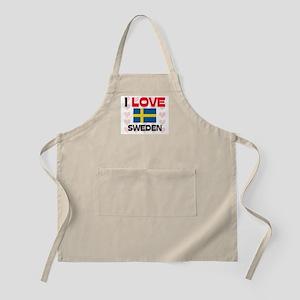 I Love Sweden BBQ Apron