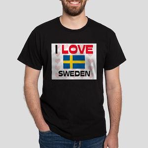 I Love Sweden Dark T-Shirt