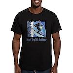 Skier Challenge Men's Fitted T-Shirt (dark)