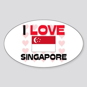 I Love Singapore Oval Sticker