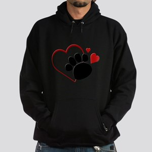 Dog Paw Print with Love Heart Sweatshirt