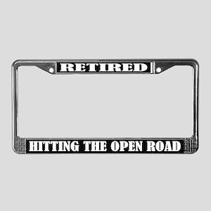 Open Road Retirement License Plate Frame