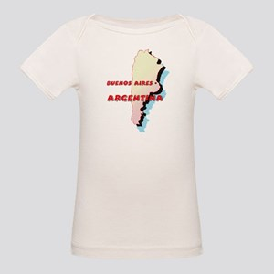 Argentina Map Organic Baby T-Shirt
