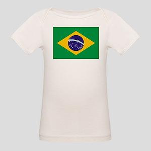 Brazil Flag Organic Baby T-Shirt