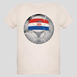 Croatia Football Organic Kids T-Shirt