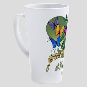 90th Birthday Grace and Beauty 17 oz Latte Mug