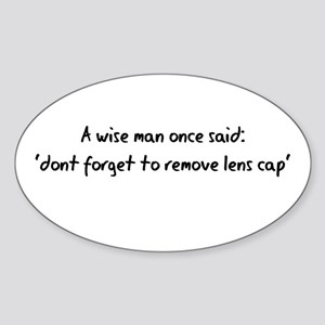 Wise Man said Oval Sticker