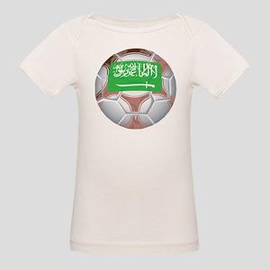 Saudi Arabia Football Organic Baby T-Shirt