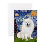 Starry / Eskimo Spitz #1 Greeting Card