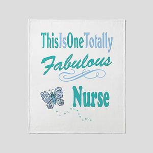 Fabulous Nurse Throw Blanket