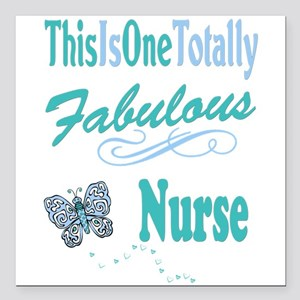 "Fabulous Nurse Square Car Magnet 3"" x 3"""