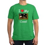 Love My Cows Men's Fitted T-Shirt (dark)