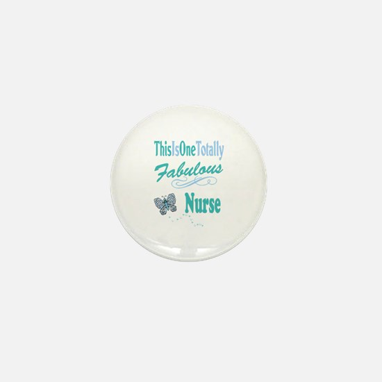 Fabulous Nurse Mini Button