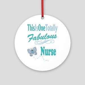 Fabulous Nurse Round Ornament
