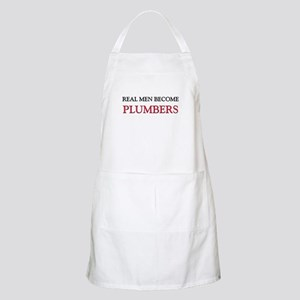 Real Men Become Plumbers BBQ Apron