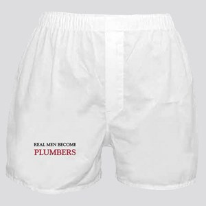 Real Men Become Plumbers Boxer Shorts