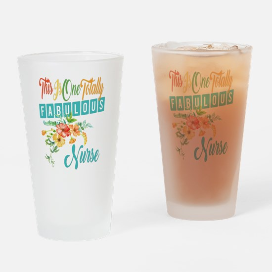 Fabulous Nurse Drinking Glass