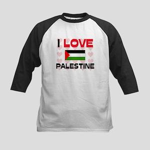 I Love Palestine Kids Baseball Jersey