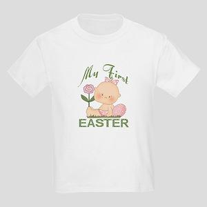 1st Easter Baby Girl Kids Light T-Shirt