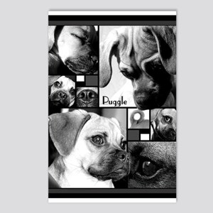 Puggle Blank Notecards Postcards (Package of 8)