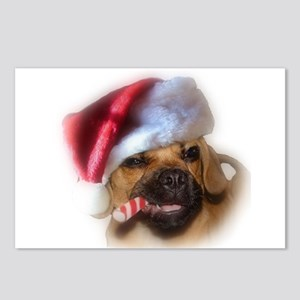 A Puggle Christmas Postcards (Package of 8)