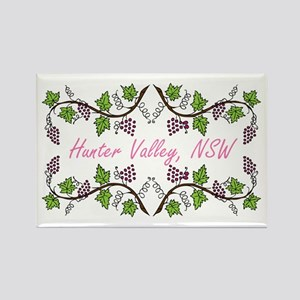 Hunter Valley Scroll Rectangle Magnet