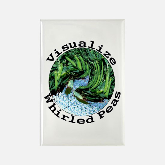 Visualize Whirled Peas Rectangle Magnet