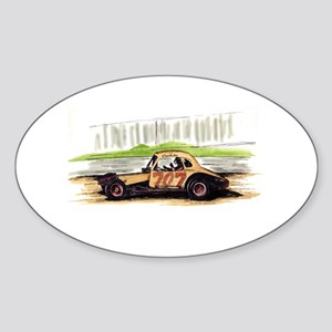 """Old Dirt!"" 707 The Big Donkey Oval Sticker"