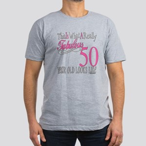 50th Birthday Gifts Men's Fitted T-Shirt (dark)