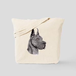 Great Dane Black Show Colors Tote Bag
