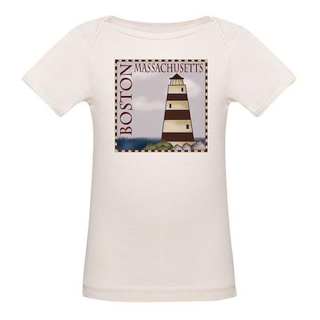 Boston Massachusetts Organic Baby T-Shirt