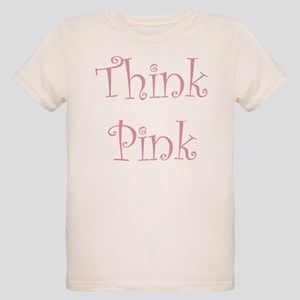 Pink Ribbon (front & back) Organic Kids T-Shirt