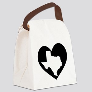 Texas In Heart Canvas Lunch Bag