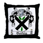 Durkin Coat of Arms Throw Pillow