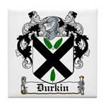 Durkin Coat of Arms Tile Coaster