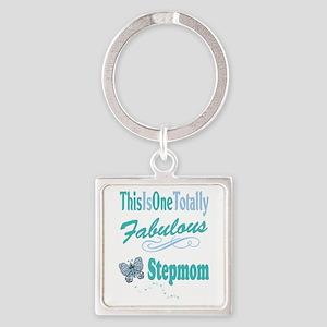 Fabulous Stepmom Square Keychain
