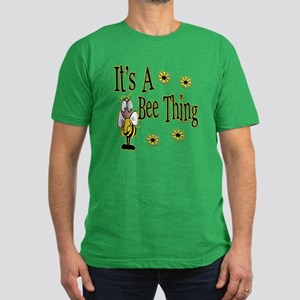 Bee Thing! Men's Fitted T-Shirt (dark)