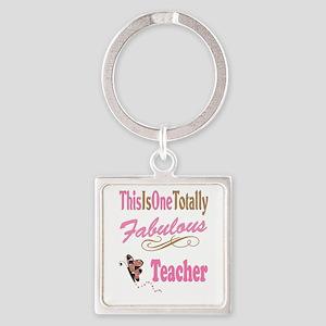 Fabulous Teacher Square Keychain