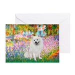 Garden / Eskimo Spitz #1 Greeting Card