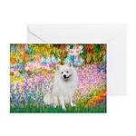 Garden / Eskimo Spitz #1 Greeting Cards (Pk of 10)