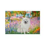 Garden / Eskimo Spitz #1 Rectangle Magnet (10 pack