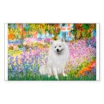Garden / Eskimo Spitz #1 Sticker (Rectangle 50 pk)
