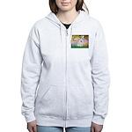 Garden / Eskimo Spitz #1 Women's Zip Hoodie