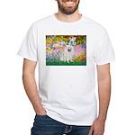 Garden / Eskimo Spitz #1 White T-Shirt