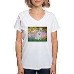 Garden / Eskimo Spitz #1 Women's V-Neck T-Shirt