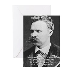 Nietzsche: Live Dangerously Greeting Cards (Packag