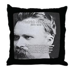 Nietzsche: Live Dangerously Throw Pillow
