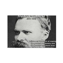 Nietzsche: Live Dangerously Rectangle Magnet